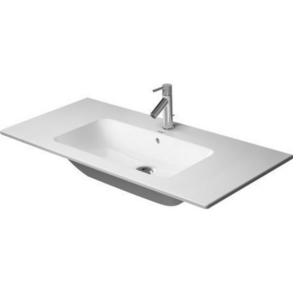 DURAVIT 233610 ME BY STARCK 40-1/2 INCH WHITE FURNITURE WASHBASIN WITH OVERFLOW AND TAP PLATFORM