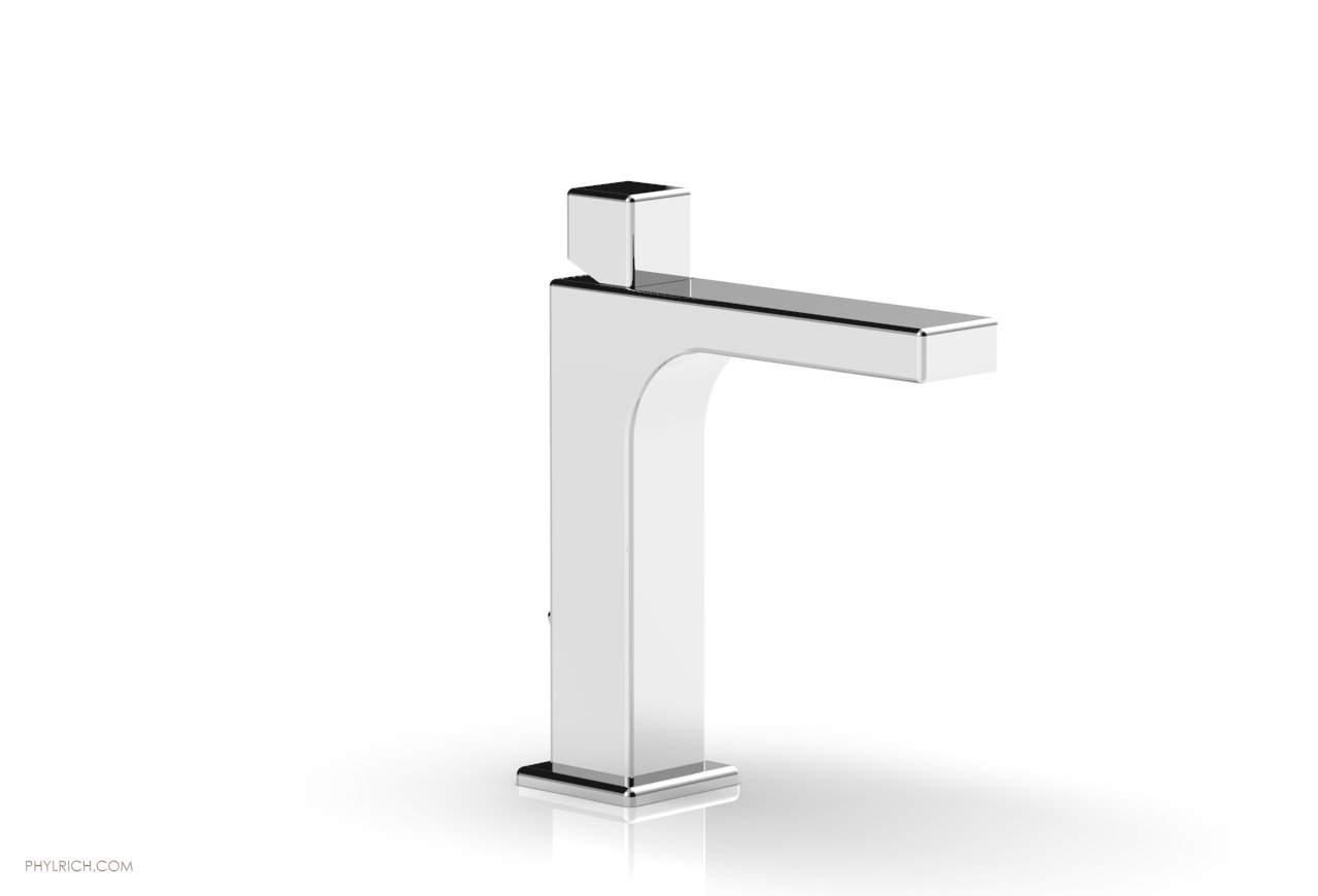 PHYLRICH 290-08 MIX SINGLE HOLE BATHROOM FAUCET WITH CUBE HANDLE