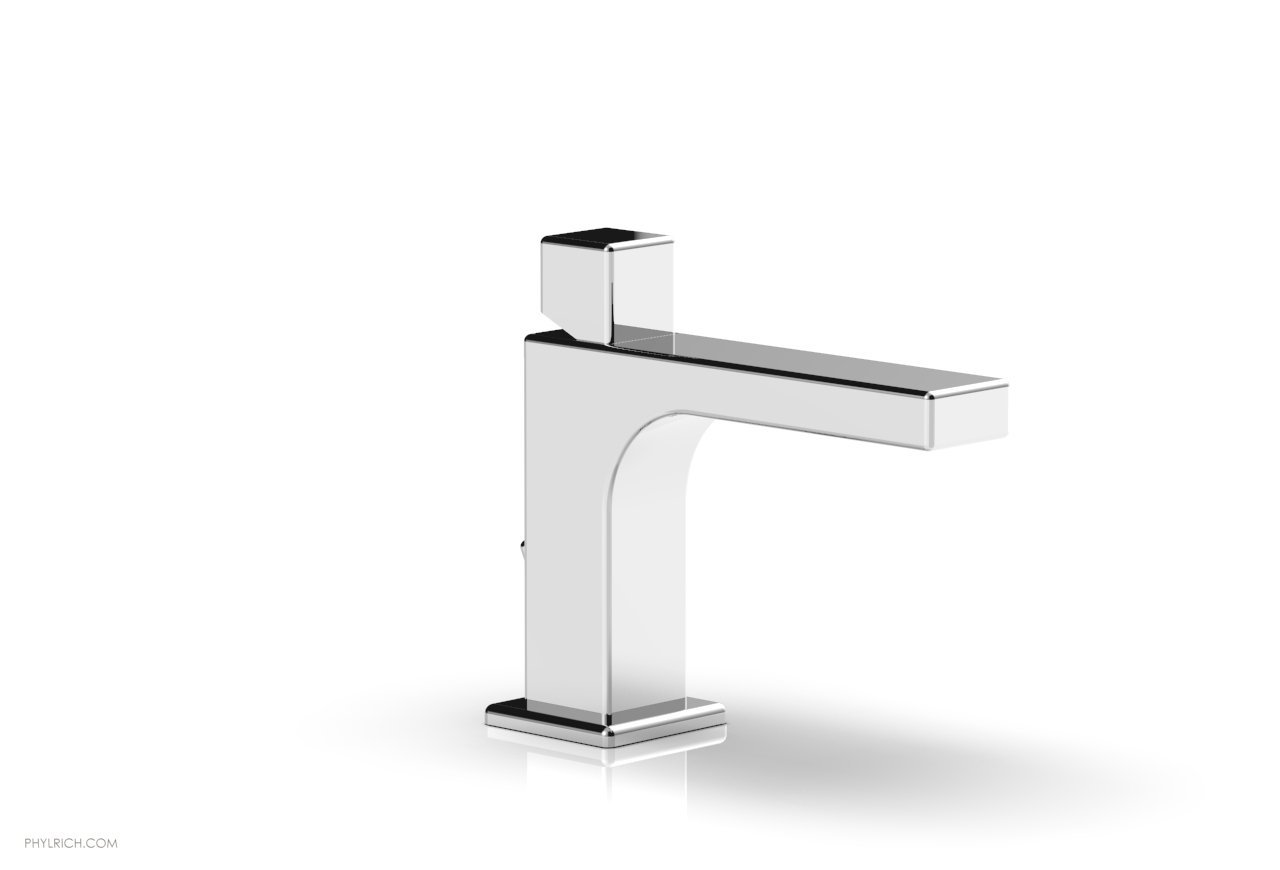 PHYLRICH 290L-08 MIX SINGLE HOLE BATHROOM FAUCET WITH CUBE HANDLE