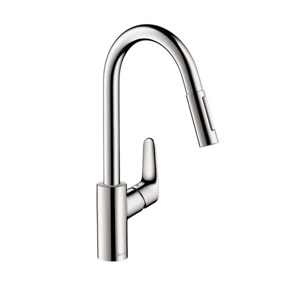 HANSGROHE 04505 FOCUS 2-SPRAY HIGHARC PULL-DOWN KITCHEN FAUCET - 1.75 GPM