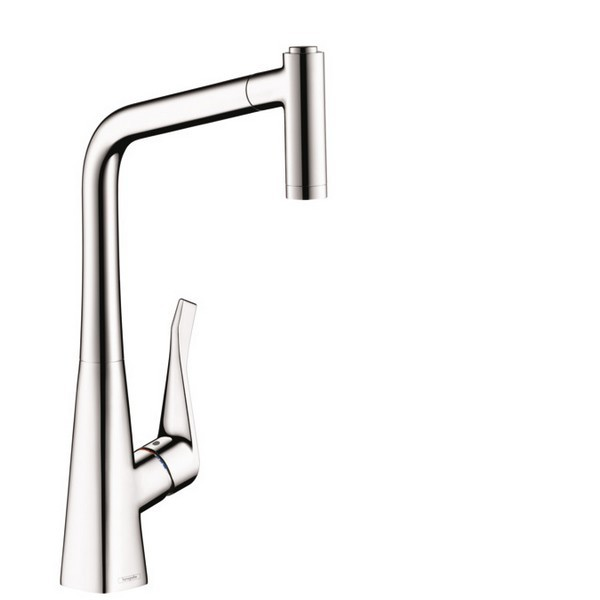 HANSGROHE 14820 METRIS 2-SPRAY HIGHARC PULL-OUT KITCHEN FAUCET