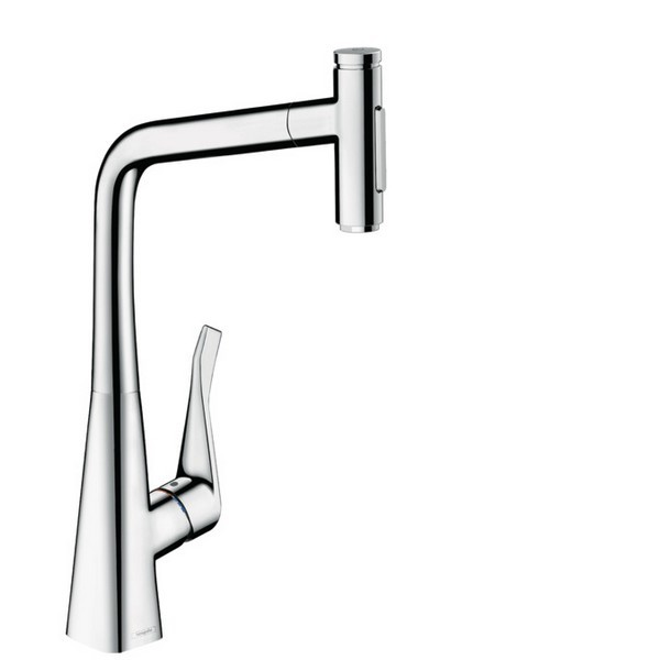 HANSGROHE 73820 METRIS HIGHARC KITCHEN FAUCET, 2-SPRAY PULL-OUT, 1.75 GPM