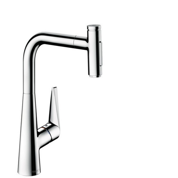 HANSGROHE 73867 TALIS SELECT S HIGHARC KITCHEN FAUCET, 2-SPRAY PULL-OUT WITH SBOX, 1.75 GPM
