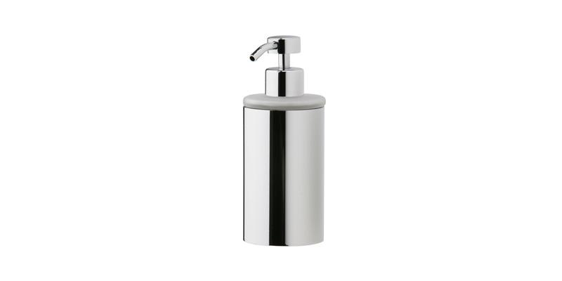 PHYLRICH DB20D BASIC 2 5/8 INCH DECK MOUNT FROSTED GLASS SOAP DISPENSER