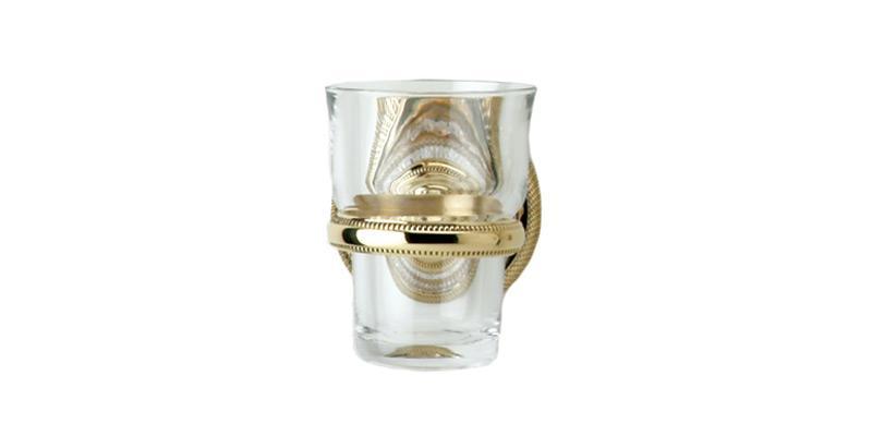 PHYLRICH KES30 REGENT CUT CRYSTAL 3 INCH WALL MOUNT GLASS HOLDER