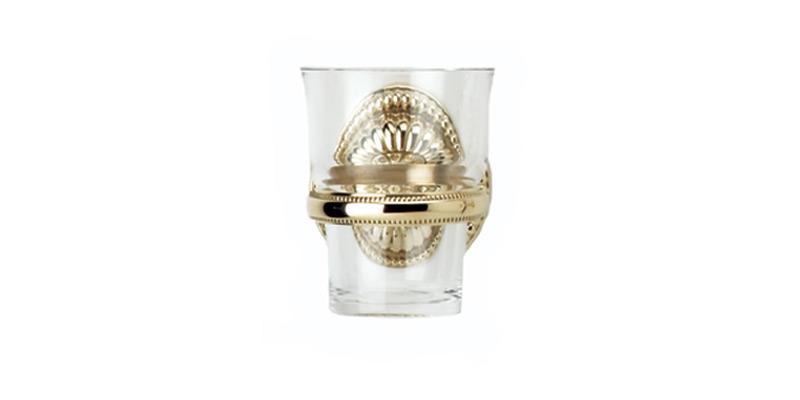 PHYLRICH KPG30 GEORGIAN & BARCELONA 3 1/8 INCH WALL MOUNT GLASS HOLDER