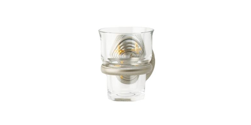 PHYLRICH KR30 RIBBON & REED 3 1/8 INCH WALL MOUNT GLASS HOLDER