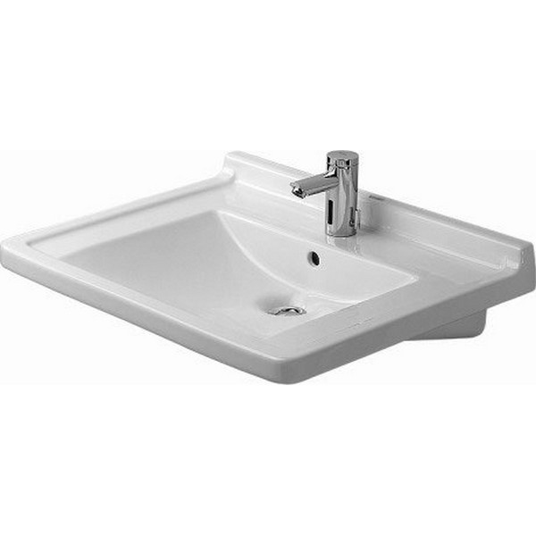 DURAVIT 030970 STARCK 3 27-1/2 X 21-1/2 INCH WASH BASIN WITH OVERFLOW AND TAP PLATFORM, HANDICAPPED