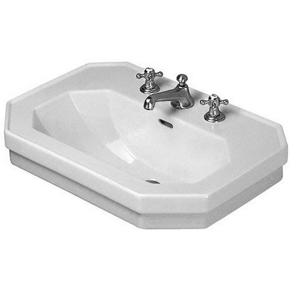 DURAVIT 043880 1930 SERIES 31-1/2 X 21-5/8 INCH WASH BASIN WITH OVERFLOW AND TAP PLATFORM