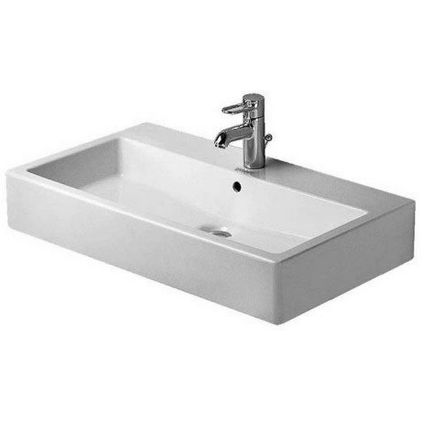 DURAVIT 045480 VERO 31-1/2 X 18-1/2 INCH WASH BASIN WITH TAP PLATFORM