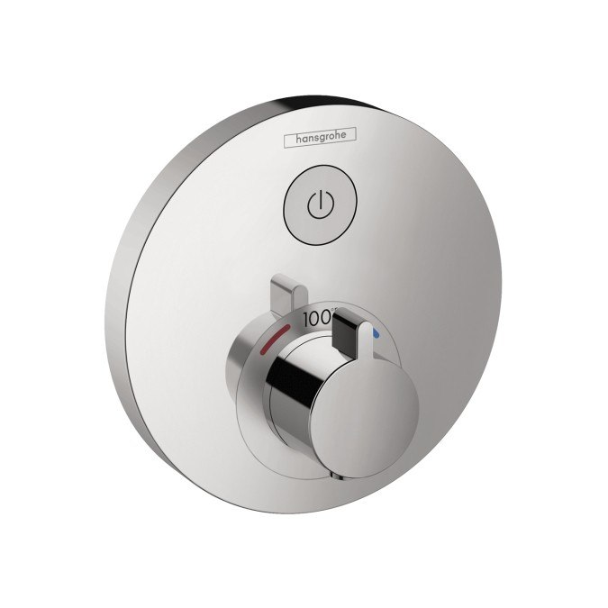 Hansgrohe 15744 ShowerSelect Round Thermostatic 1-Function Trim