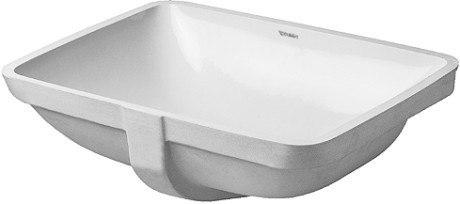 Duravit 030549 Starck 3 19-1/4 x 14-3/8 Inch Drop In Bathroom Sink with Overflow