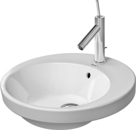 Duravit 232748 Starck 2 18-7/8 Inch Drop In Bathroom Sink with Overflow