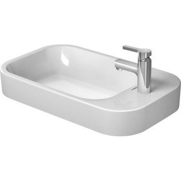 DURAVIT 231765 HAPPY D.2 25-5/8 INCH DECK MOUNTED BATHROOM SINK WITH OVERFLOW