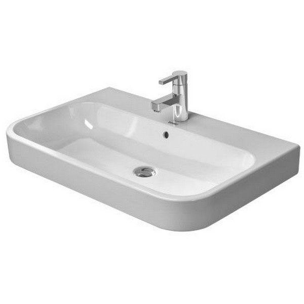 DURAVIT 231880 HAPPY D.2 31-1/2 X 19-7/8 INCH BATHROOM SINK WITH OVERFLOW