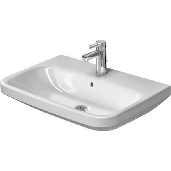 DURAVIT 231965 DURASTYLE 25-5/8 X 17-3/8 INCH WALL MOUNTED BATHROOM SINK WITH OVERFLOW