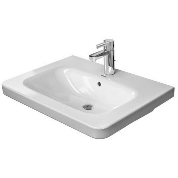 DURAVIT 232065 DURASTYLE 25-5/8 X 18-7/8 INCH WALL MOUNTED BATHROOM SINK WITH OVERFLOW