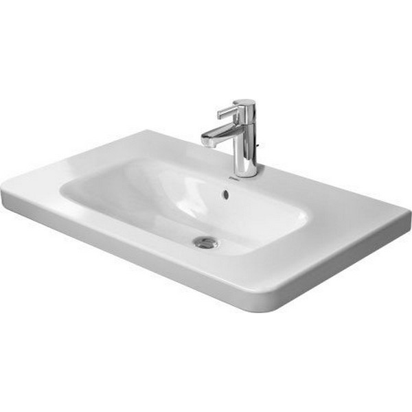 DURAVIT 232080 DURASTYLE 31-1/2 X 18-7/8 INCH WALL MOUNTED BATHROOM SINK WITH OVERFLOW