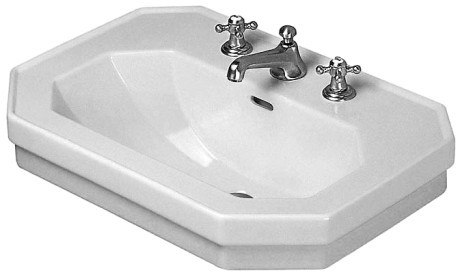 DURAVIT 043860 1930 SERIES 23-5/8 X 16-1/8 INCH WASH BASIN WITH OVERFLOW AND TAP PLATFORM