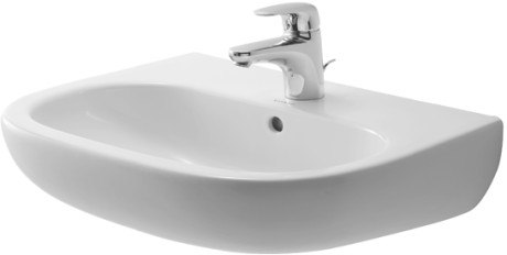 Duravit 231055 D-Code 21-5/8 x 16-7/8 Inch Wall Mounted Bathroom Sink with Overflow