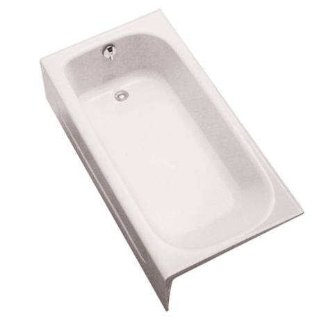 TOTO FBY1515LP 59-3/4 X 30 X 14-11/16 INCH ENAMELED CAST IRON BATHTUB WITH LEFT HAND DRAIN
