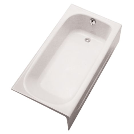 TOTO FBY1515RP ENAMELED CAST IRON BATHTUB 30 X 14-11/16 INCH WITH RIGHT HAND DRAIN