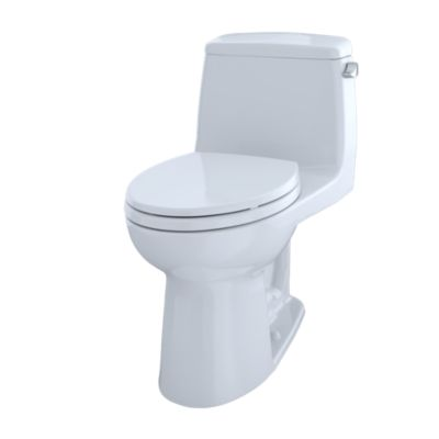 TOTO MS854114ELR#01 COTTON ULTRAMAX ONE PIECE ELONGATED 1.28 GPF TOILET WITH E-MAX FLUSH SYSTEM AND RIGHT-HAND TRIP LEVER - SOFTCLOSE SEAT INCLUDED