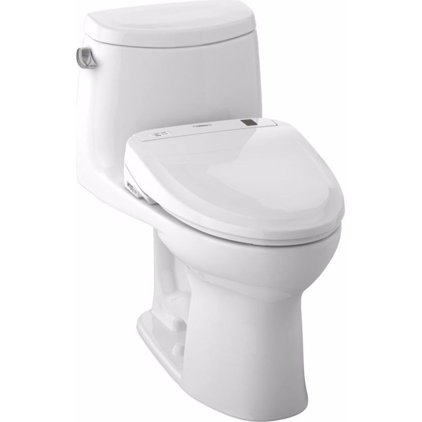 Toto MW604584CEFG#01 UltraMax Connect+ S350e One-Piece Toilet, 1.28 GPF with SanaGloss