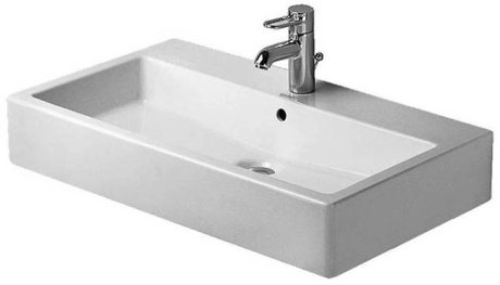 Duravit 045470 Vero 27-1/2 x 18-1/2 Inch Bathroom Sink with Overflow with WonderGliss