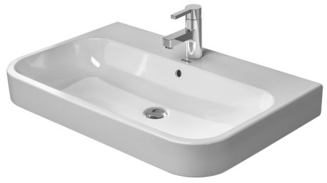 Duravit 231865 Happy D.2 25-5/8 x 19-7/8 Inch Bathroom Sink with Overflow and One Tap Hole