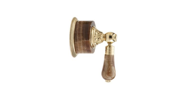 PHYLRICH 2PV241A VERSAILLES MONTAIONE BROWN ONYX LEVER HANDLE VOLUME CONTROL OR DIVERTER TRIM