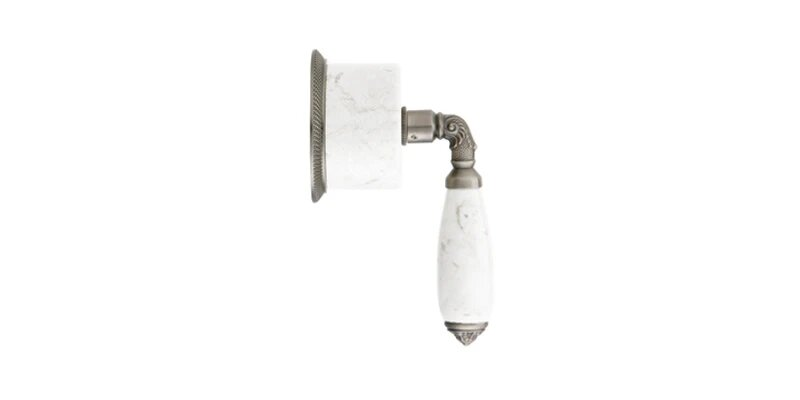 PHYLRICH 2PV338BA VALENCIA WHITE MARBLE LEVER HANDLE VOLUME CONTROL OR DIVERTER TRIM