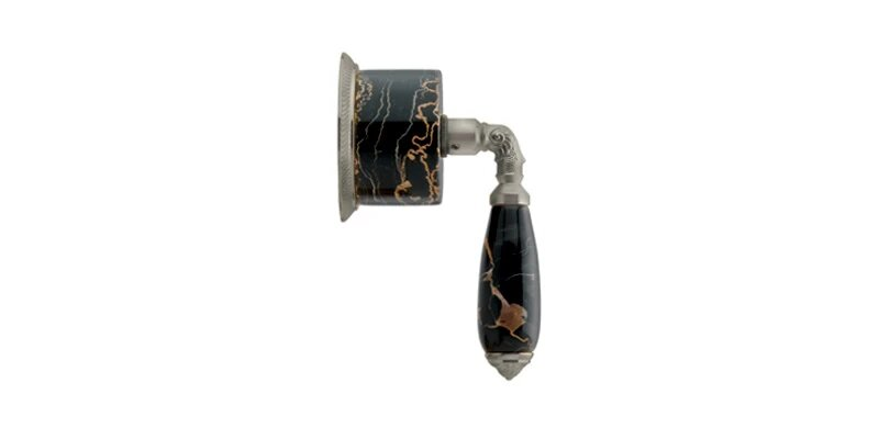 PHYLRICH 2PV338CA VALENCIA BLACK MARBLE LEVER HANDLE VOLUME CONTROL OR DIVERTER TRIM