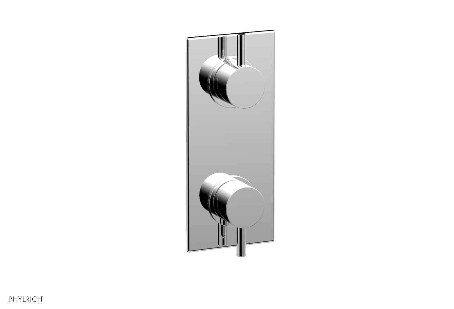 PHYLRICH 4-171 BASIC II WALL MOUNT TWO LEVER HANDLES MINI THERMOSTATIC VALVE WITH VOLUME CONTROL OR DIVERTER TRIM