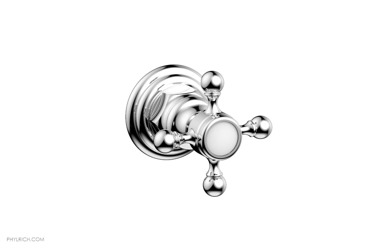 PHYLRICH 500-35 HEX TRADITIONAL WALL MOUNT VOLUME CONTROL OR DIVERTER TRIM CROSS HANDLE