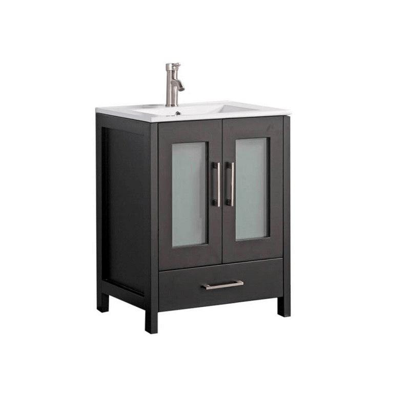 Mtd Mtd 1024e Argentina 24 Inch Single Sink Bathroom Vanity In Espresso Mtd 1024e Mtd1024e