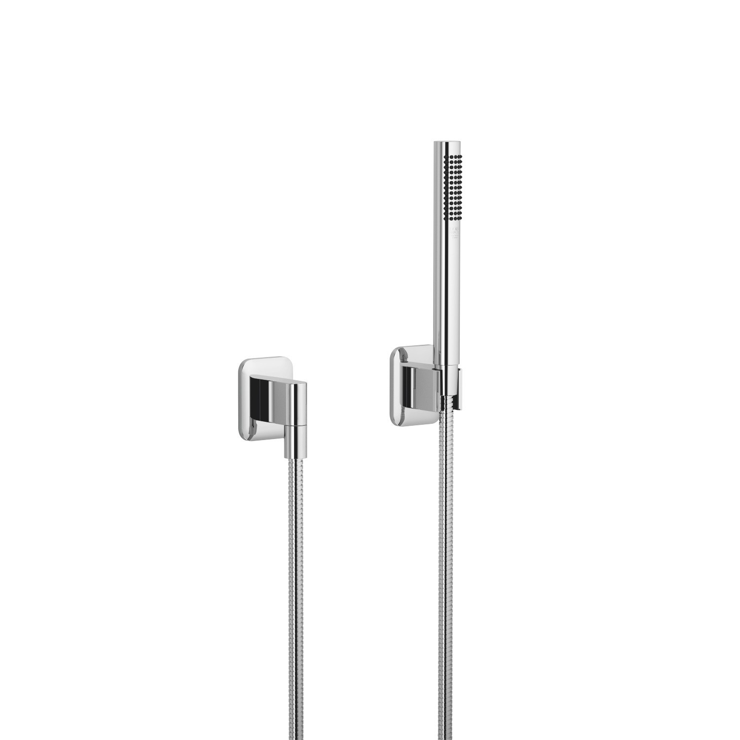 DORNBRACHT 27802845-0010 LISSÉ WALL MOUNT SINGLE-FUNCTION ROUND HAND SHOWER SET WITH INDIVIDUAL FLANGES