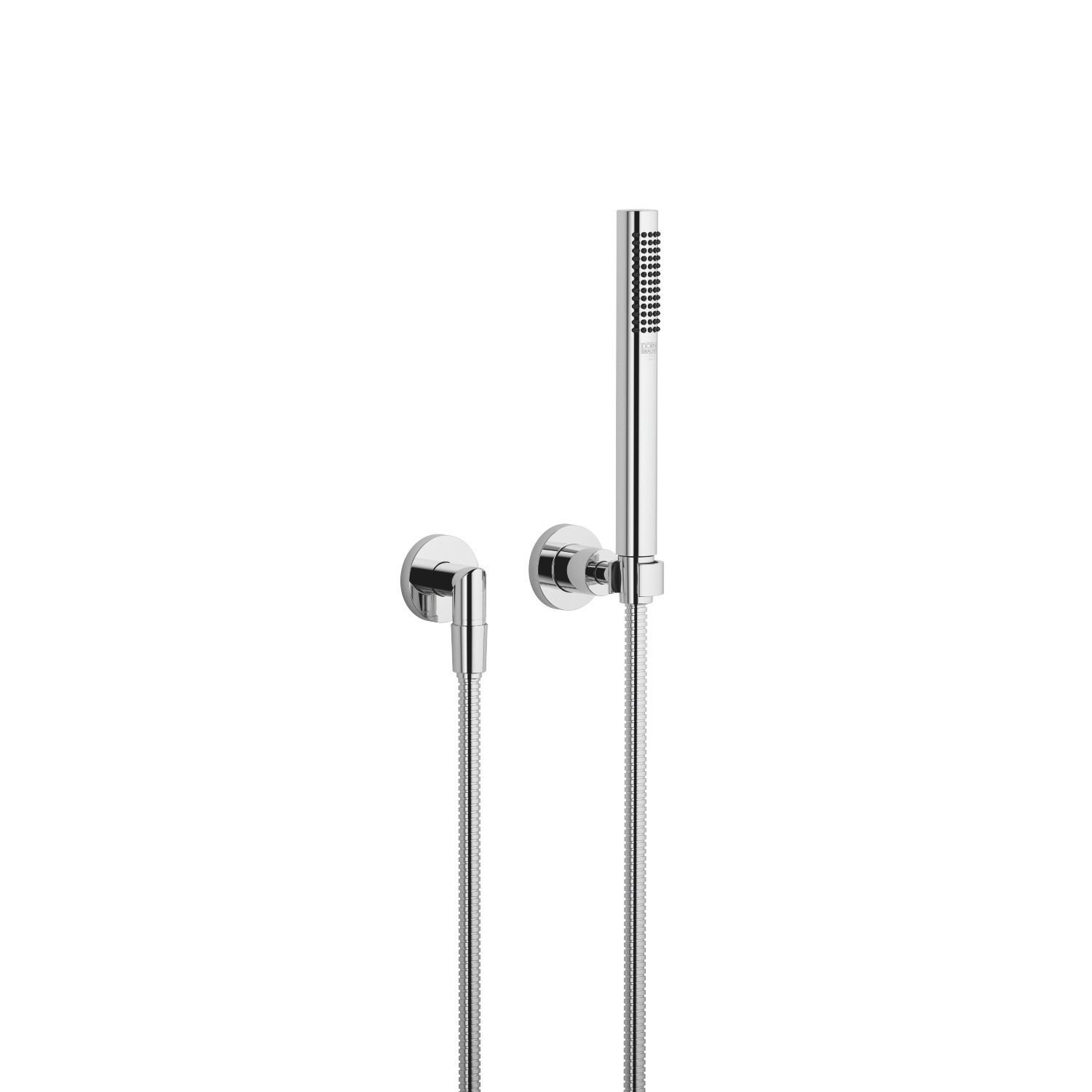 DORNBRACHT 27802892-0010 TARA WALL MOUNT SINGLE-FUNCTION ROUND HAND SHOWER SET WITH INDIVIDUAL FLANGES