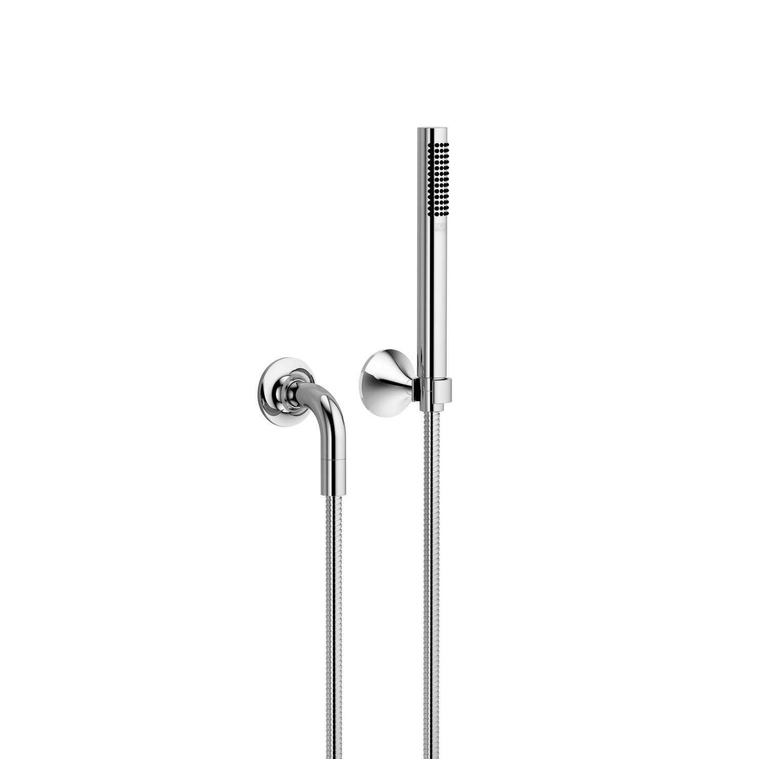 DORNBRACHT 27808809-0010 VAIA WALL MOUNT SINGLE-FUNCTION ROUND HAND SHOWER SET WITH INDIVIDUAL FLANGES
