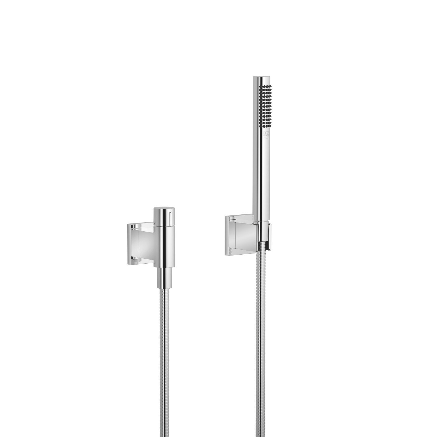 DORNBRACHT 27809980-0010 WALL MOUNT SINGLE-FUNCTION ROUND HAND SHOWER SET WITH INDIVIDUAL FLANGES AND VOLUME CONTROL