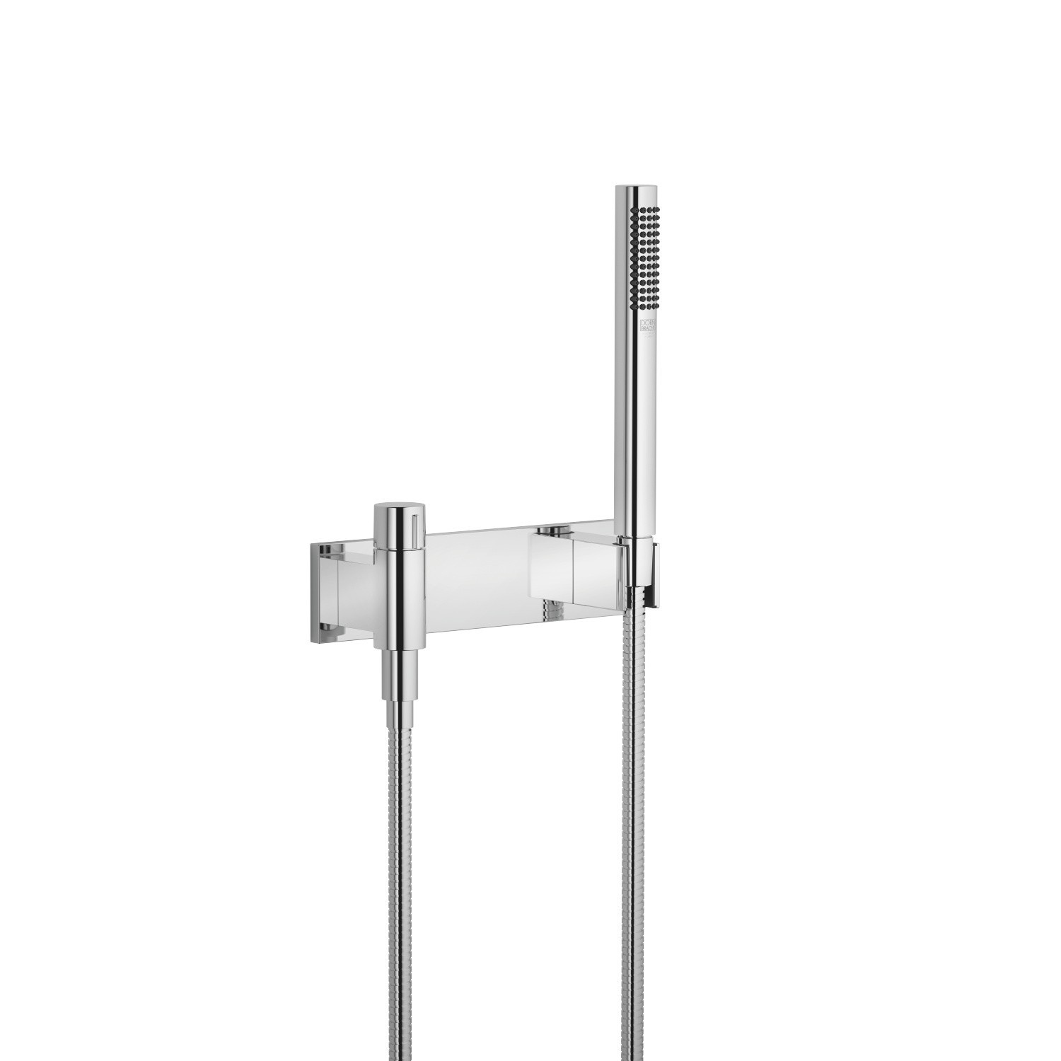 DORNBRACHT 27819980-0010 WALL MOUNT SINGLE-FUNCTION ROUND HAND SHOWER SET WITH COVER PLATE AND VOLUME CONTROL