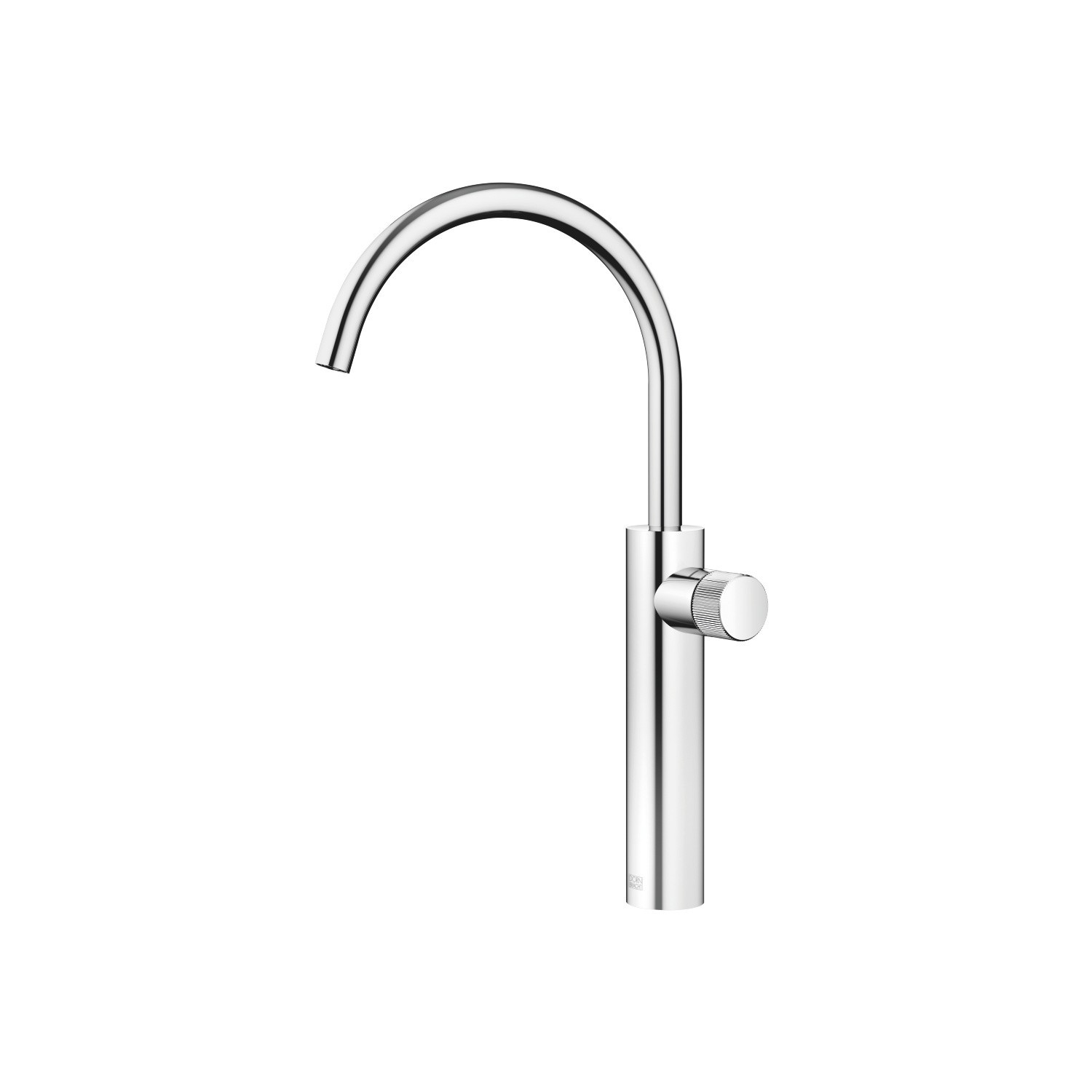 DORNBRACHT 33534665-0010 META PURE 15 5/8 INCH SINGLE HOLE DECK MOUNT LAVATORY MIXER WITH EXTENDED SHANK AND KNOB HANDLE