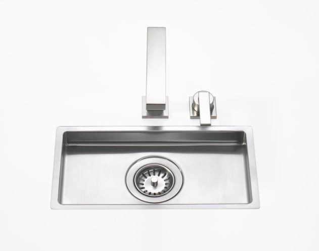 DORNBRACHT 38001000-86 SINGLE BOWL FLUSH MOUNT KITCHEN SINK - MATTE STAINLESS STEEL