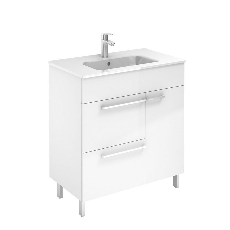 ROYO 126110 CONFORT 28 INCH VANITY IN WHITE WITH 2 DRAWERS