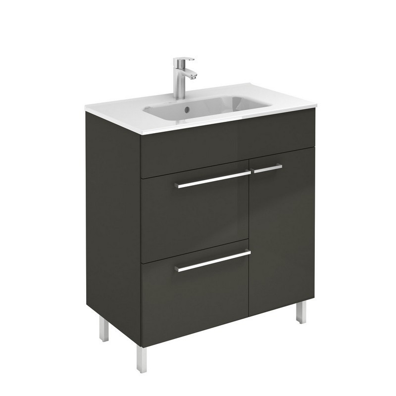 Royo 126111 Confort 28 Inch Vanity In Anthracite With 2 Drawers