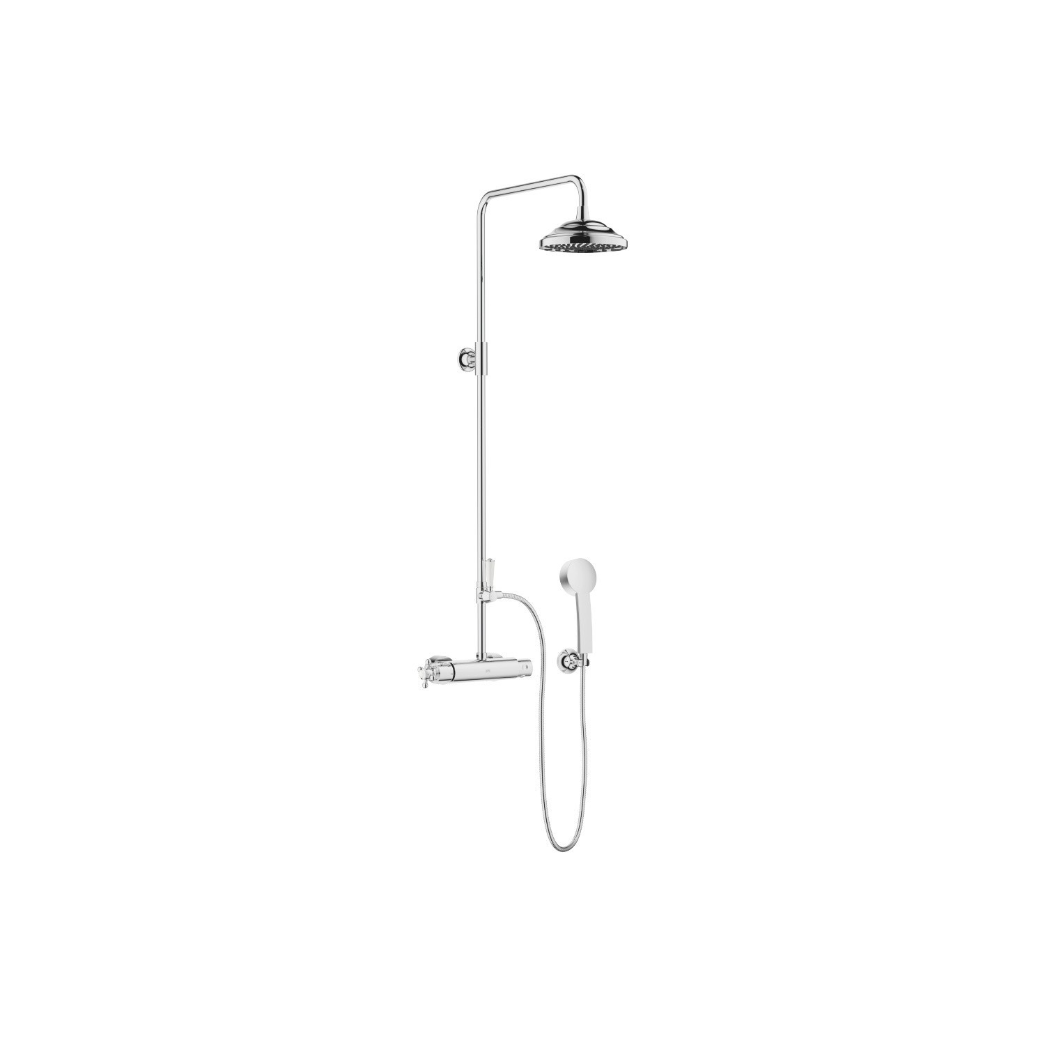 DORNBRACHT 34455970-0010 MADISON WALL MOUNT SHOWER THERMOSTAT WITH RAINHEAD AND HAND SHOWER SET