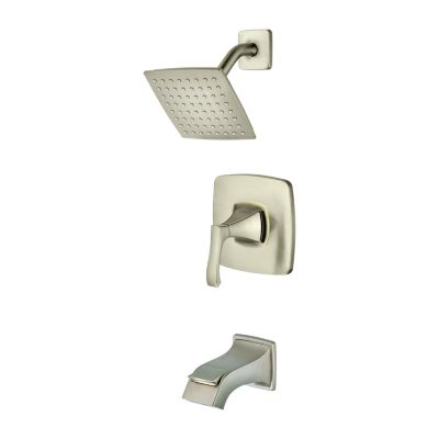 PFISTER 8P8-WS-VNSK VENTURI WALL MOUNT TUB AND SHOWER FAUCET WITH LEVER HANDLE - BRUSHED NICKEL