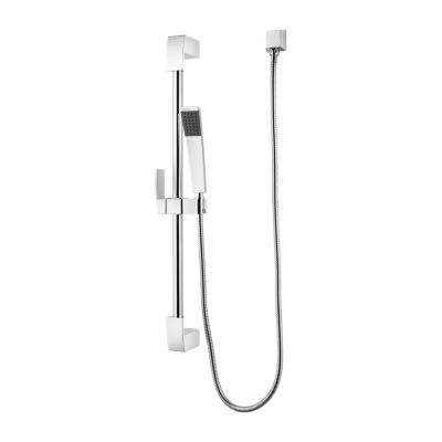 PFISTER LG16-3DF KENZO 8 3/8 INCH SINGLE-FUNCTION ROUND HAND HELD SHOWER WITH SLIDE BAR