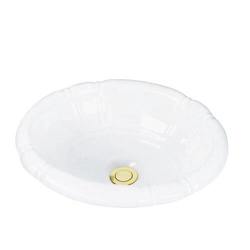 BARCLAY 4-709 SIENNA 15 1/2 INCH SINGLE BASIN DROP-IN BATHROOM SINK