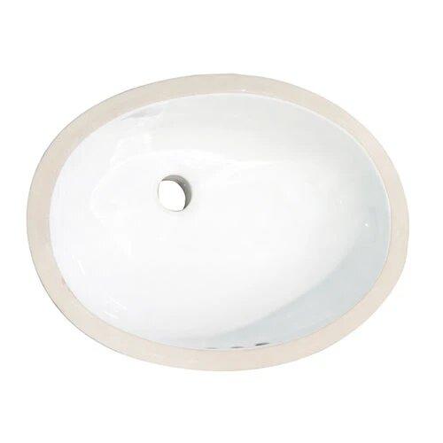 BARCLAY 4-732 ROSA 22 1/2 INCH SINGLE BASIN UNDERMOUNT BATHROOM SINK